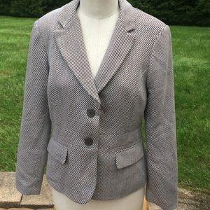 New York and company striped blazer size 12